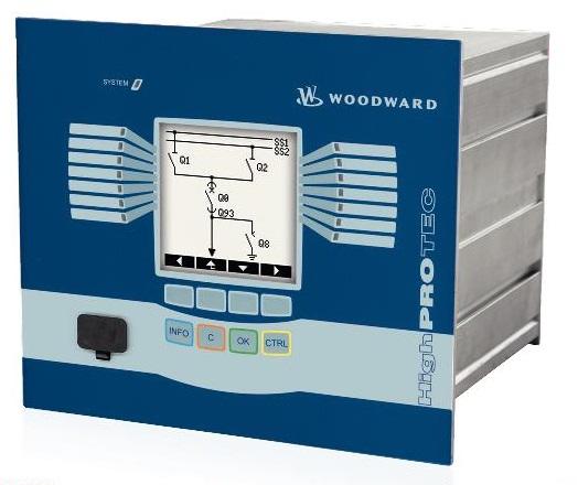 WOODWARD MCA4 реле защиты присоединений с увеличенным экраном (коды ANSI: 25; 27; 32; 37; 46; 47; 49; 50BF; 50N; 51N; 51Q; 51V; 55; 59; 59N; 60FL; 67N; 74TC; 78; 79; 81U/O; 81R)