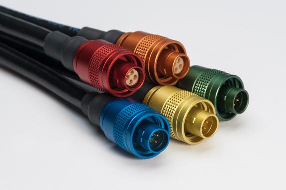 разъемы, LEMO, M series, М серия, анодированный алюминий, разъемы разных цветов